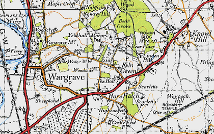 Old map of Yeldall Manor in 1947