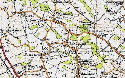 Old map of The Lee in 1946
