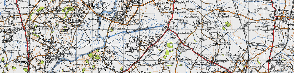 Old map of Leigh Ho in 1947