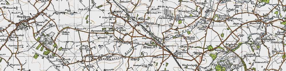 Old map of Lings, The in 1946