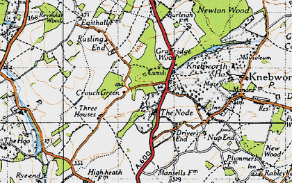 Old map of The Node in 1946