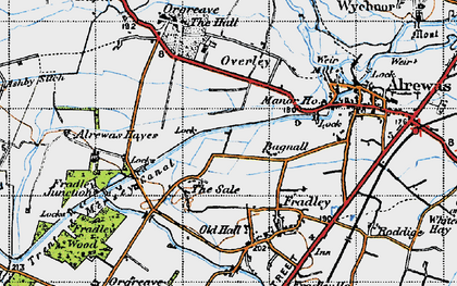 Old map of Bagnall in 1946
