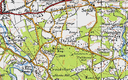 Old map of The Sands in 1940