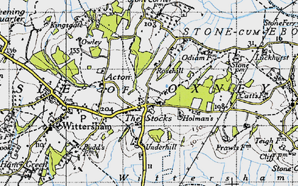Old map of Acton in 1940