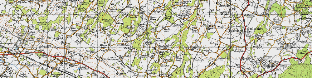 Old map of Woodsell in 1940
