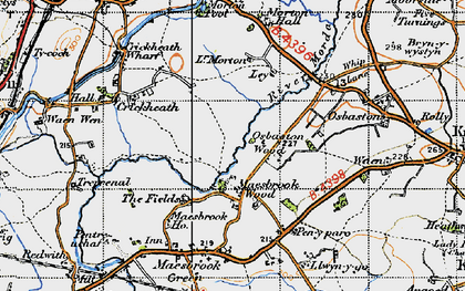 Old map of Ley in 1947