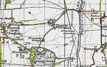 Old map of Barkers Holt in 1947