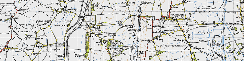 Old map of Winterton Beck in 1947