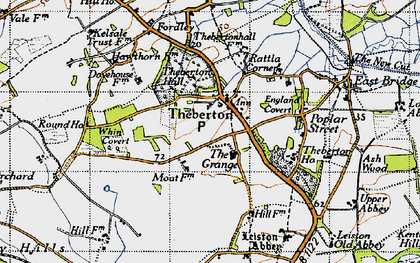 Old map of Leiston Abbey in 1946