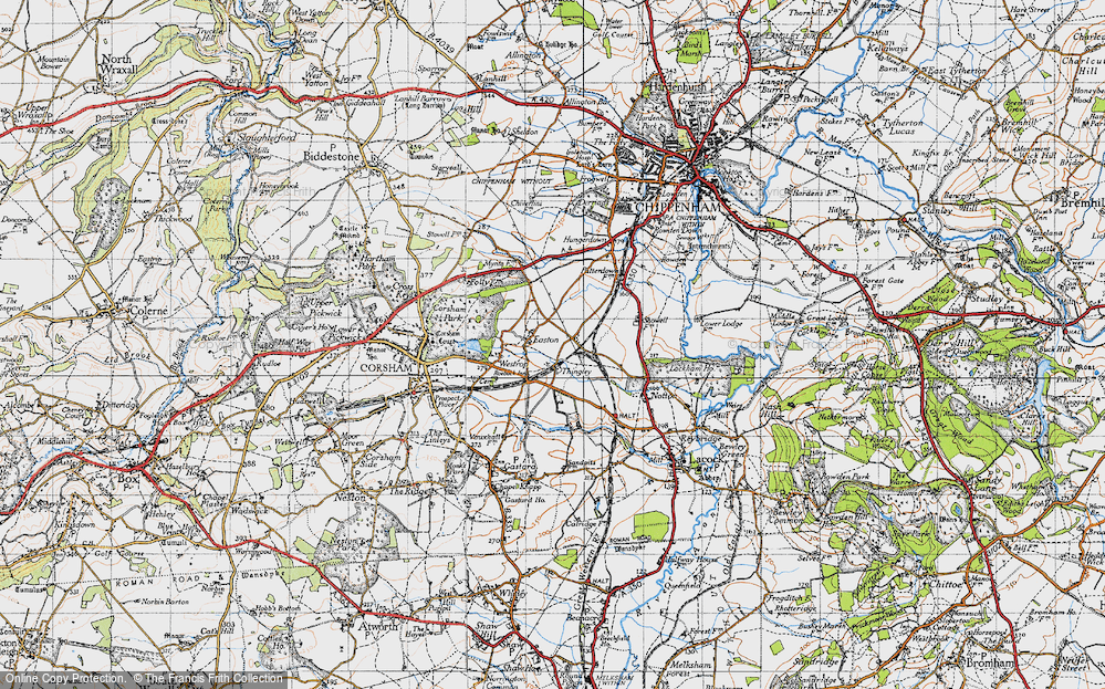 Old Map of Thingley, 1940 in 1940