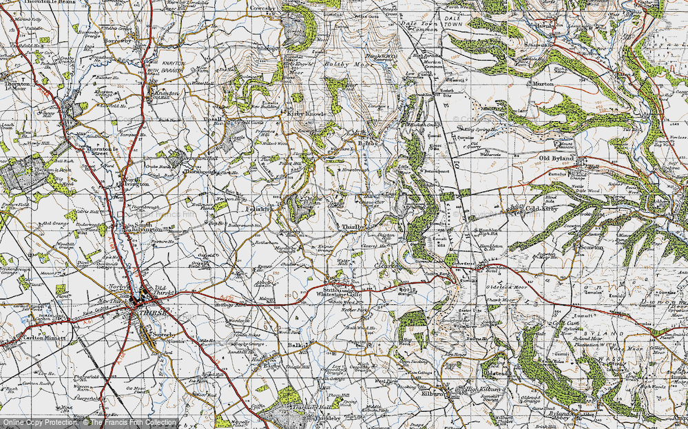 Old Map of Historic Map covering Aspen Grove in 1947
