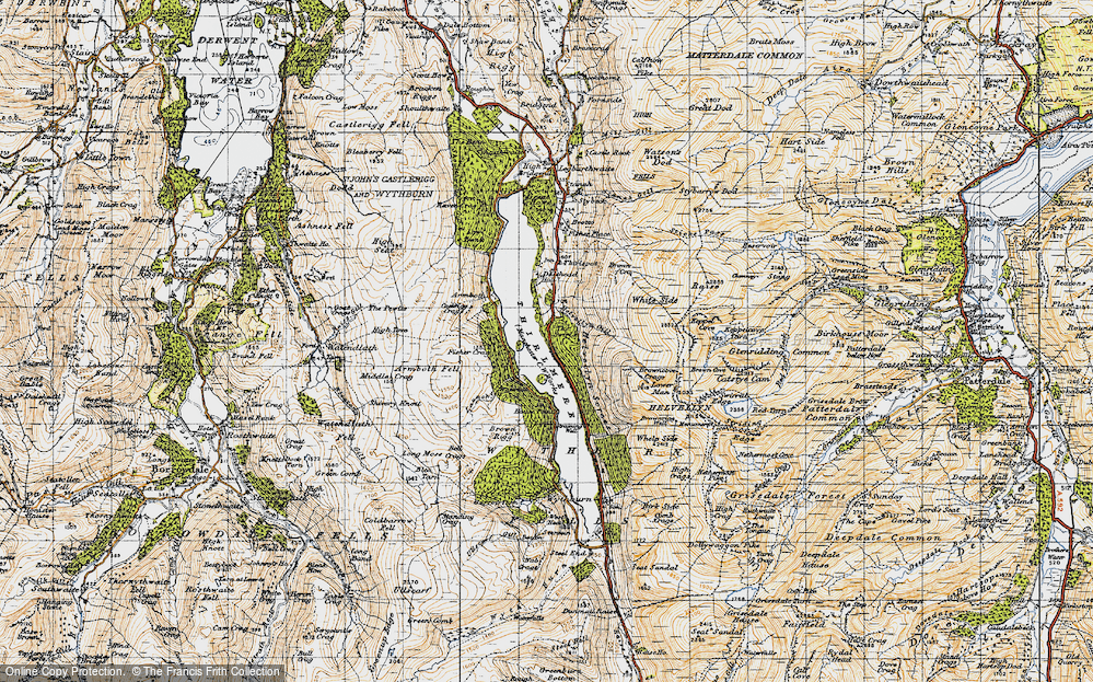 Old Map of Thirlmere, 1947 in 1947