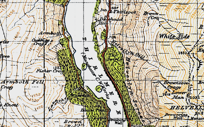 Old map of Thirlmere in 1947