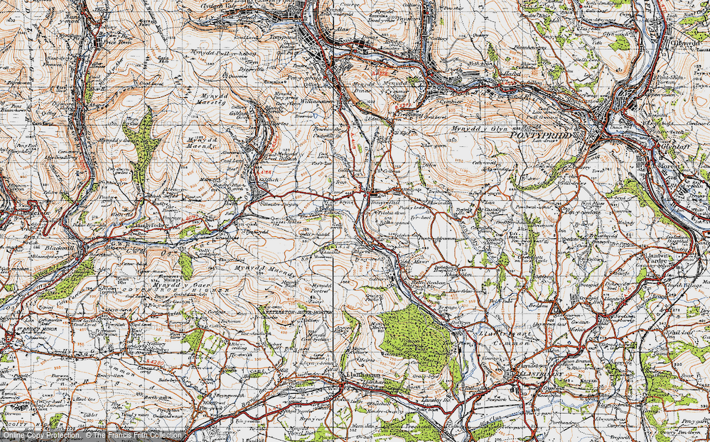 Old Map of Thomastown, 1947 in 1947