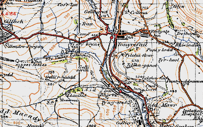 Old map of Thomastown in 1947