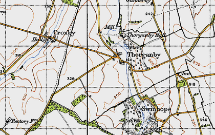 Old map of Ash Hill (Long Barrow) in 1946