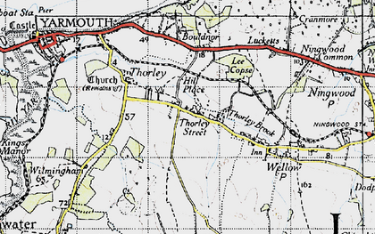 Old map of Wilmingham in 1945