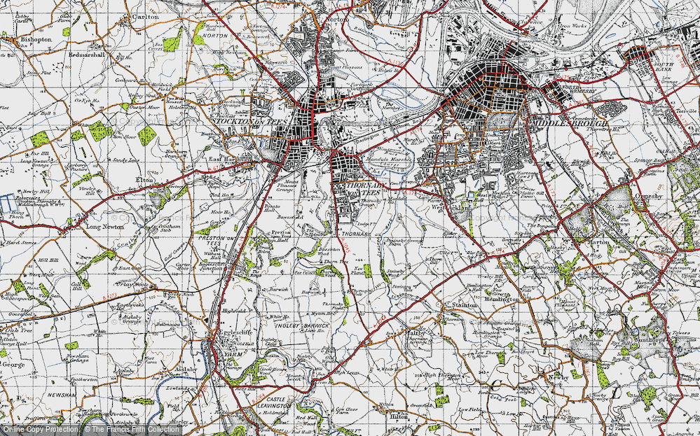 Old Map of Thornaby-on-Tees, 1947 in 1947
