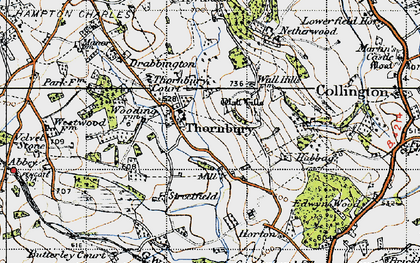 Old map of Yeld Ho in 1947