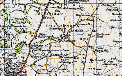 Old map of Whitehouse in 1947