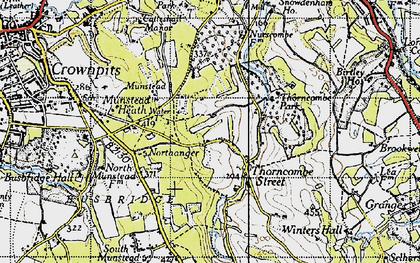 Old map of Winkworth Arboretum in 1940