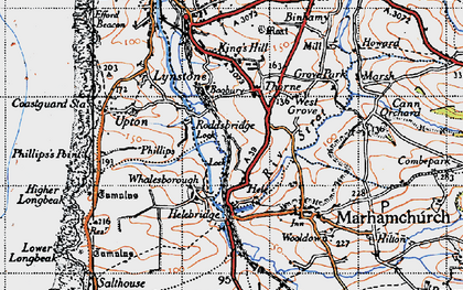 Old map of Thorne in 1946