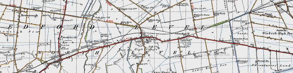 Old map of Thorney River in 1946