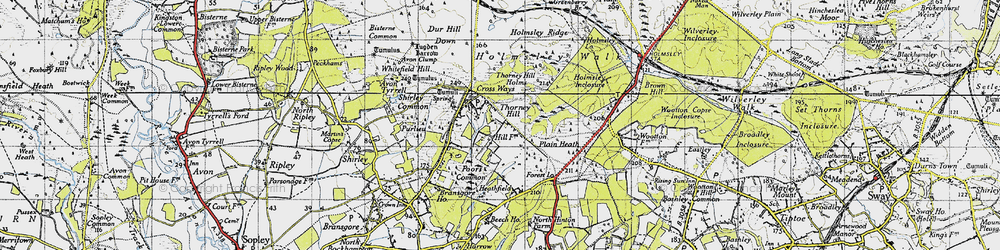 Old map of Whitten Bottom in 1940