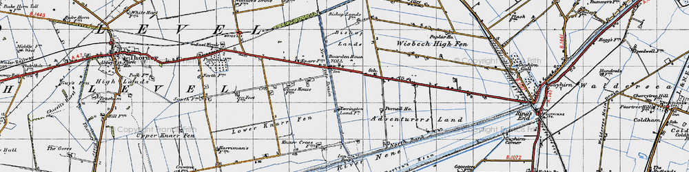 Old map of Adventurers' Land in 1946