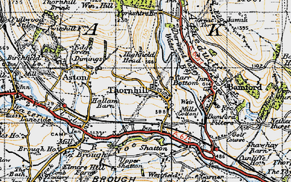 Old map of Yorkshire Br in 1947