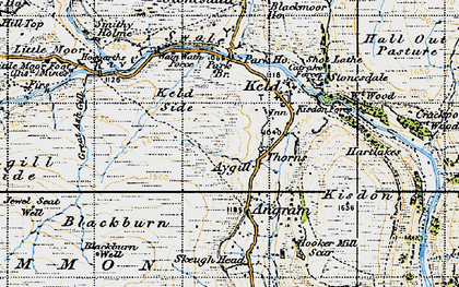 Old map of Ashgill Side in 1947