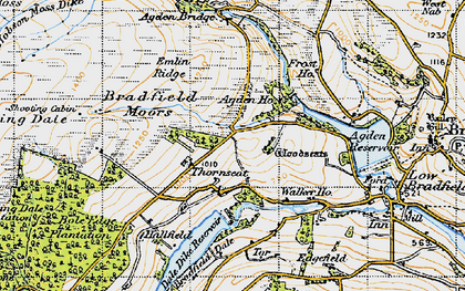 Old map of Agden Bridge in 1947