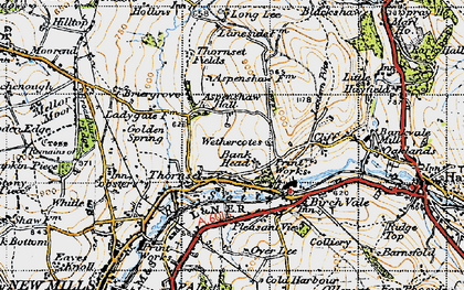Old map of Wethercotes in 1947