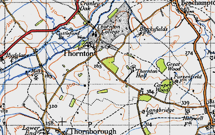 Old map of Thornton in 1946