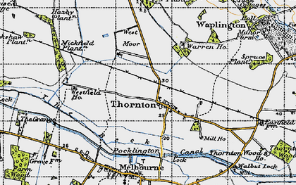Old map of Allerthorpe Common in 1947