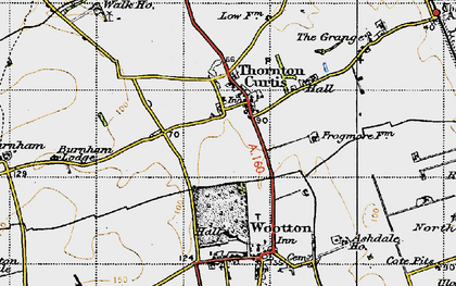 Old map of Thornton Curtis in 1947