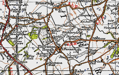 Old map of Wirral in 1947