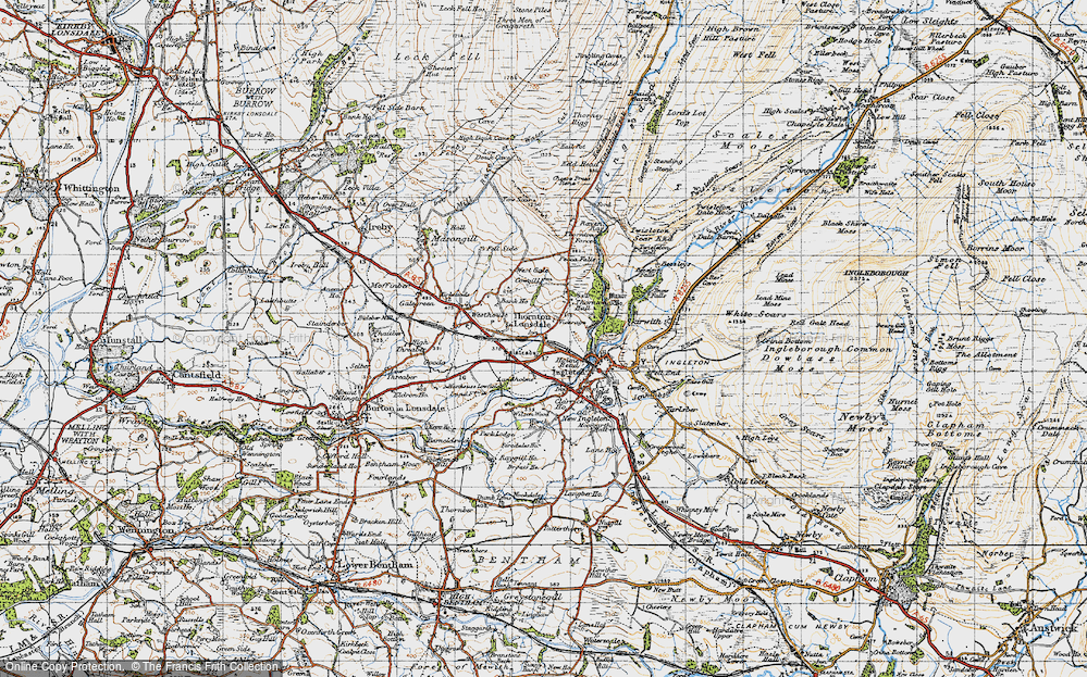 Old Map of Thornton in Lonsdale, 1947 in 1947