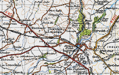 Old map of Wilson Wood in 1947