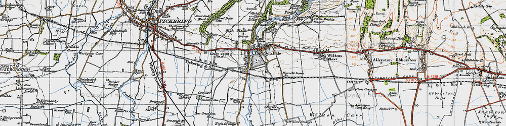 Old map of Willow Grange in 1947