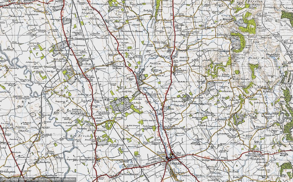 Old Map of Historic Map covering Leachfield Grange in 1947