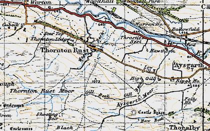 Old map of Aysgarth Moor in 1947
