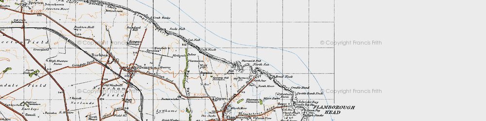 Old map of Thornwick Bay in 1947