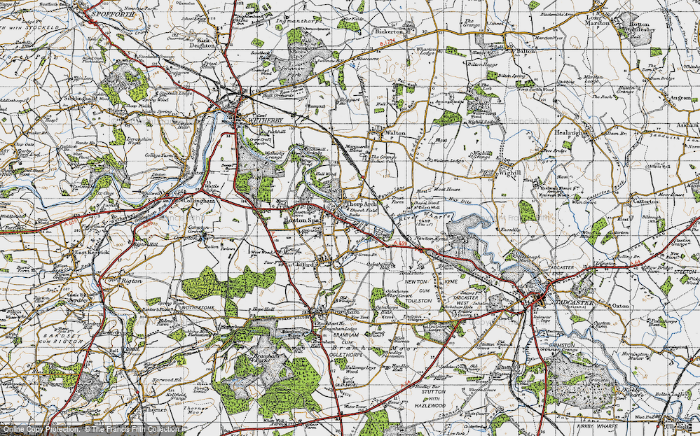 Old Map of Thorp Arch, 1947 in 1947