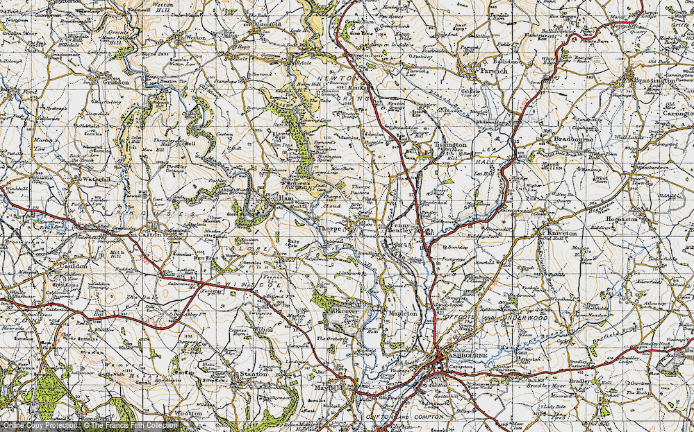 Old Map of Thorpe, 1946 in 1946
