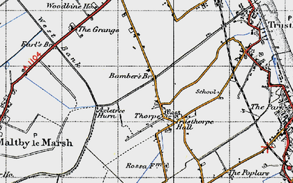 Old map of Bamber's Br in 1946