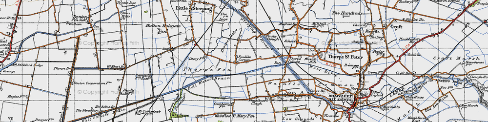 Old map of White Cross Clough in 1946
