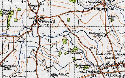 Old map of Windyridge in 1946
