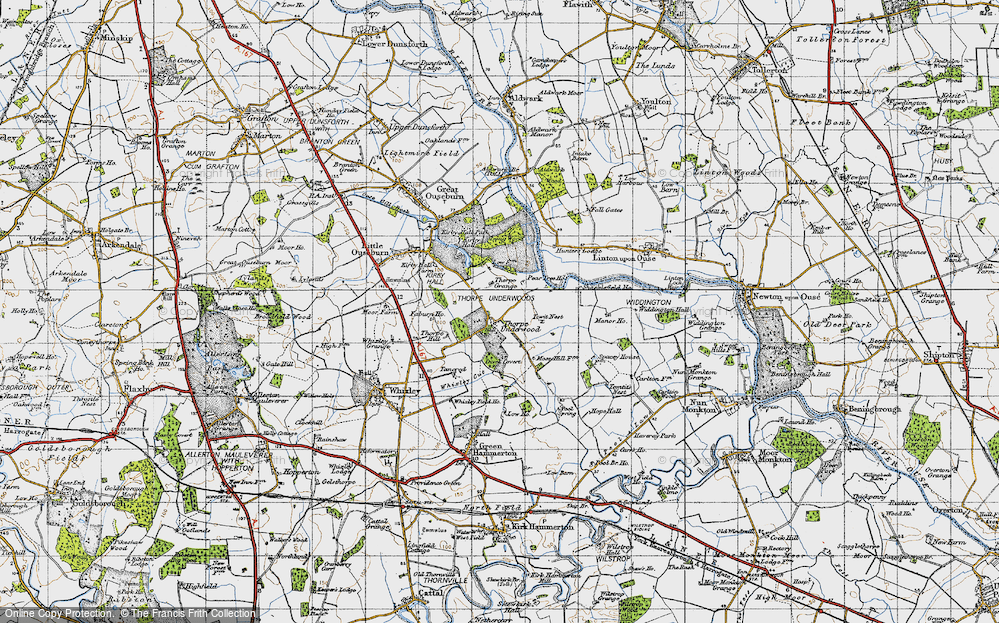 Old Map of Thorpe Underwood, 1947 in 1947