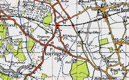 Old map of Thorrington in 1945